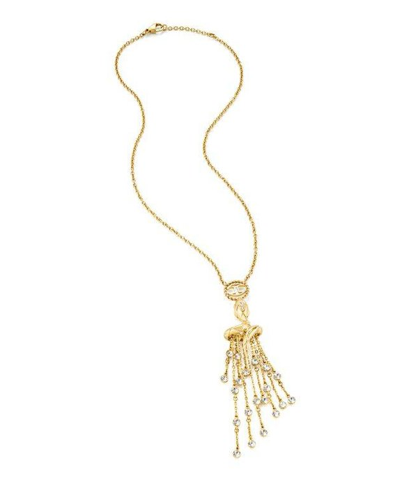 JUST CAVALLI JUST CAVALLI JUST JAZZ chain yellow gold PVD with crystals SCAEL01