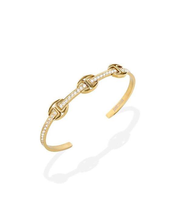 JUST CAVALLI Just Cavalli Nur Veranstaltungs Armband Gelbgold PVD mit Kristallen SCAEP01
