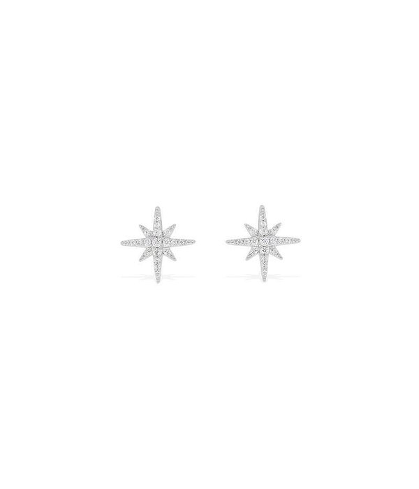 APM MONACO EARRINGS ADN1 AE8419OX in star shape with white crystals