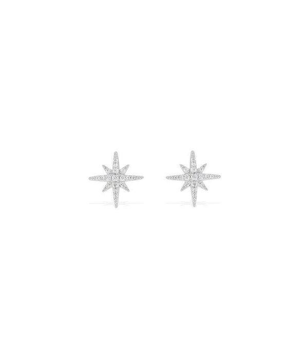 APM MONACO OHRRINGE AND1 AE8419OX in Sternform mit weißen Kristallen