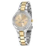 JUST CAVALLI Just Indie R7253215606 dameshorloge in goud en zilverkleurig edelstaal