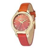 JUST CAVALLI Juste dames Fushion R7251533501 montre avec bracelet en cuir ORANGE
