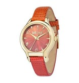 JUST CAVALLI Just Fushion R7251533501 ladies watch with ORANGE leather strap