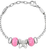 MORELLATO DROPS SCZ730 BRACELET WITH PINK BEADS AND CRYSTALS