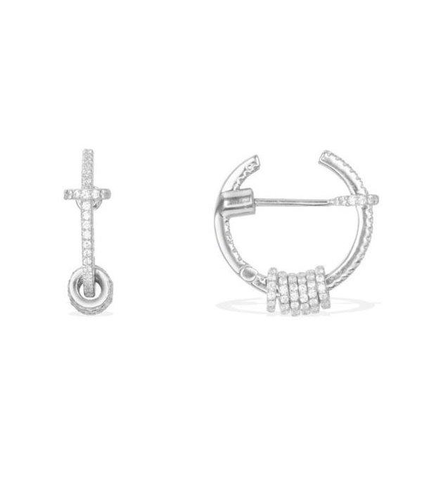 APM MONACO Symbole oorringen AE9753OX in zilver met kristallen
