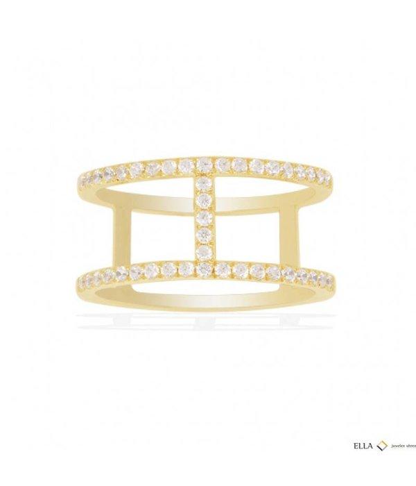 APM MONACO Bague argent ETE A16876OXY d'or avec des cristaux
