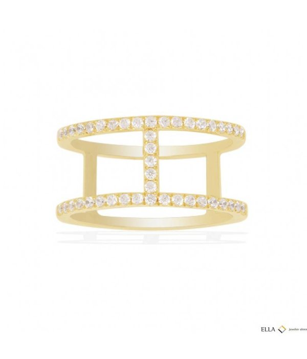 APM MONACO ETE Ring A16876OXY gold silver with crystals