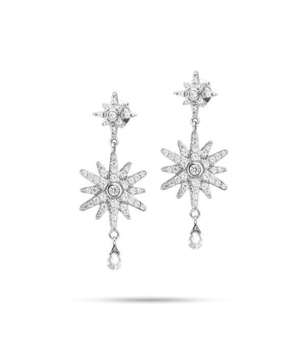 MORELLATO boucles d'oreilles Pura SAHR03 en argent avec cristal