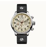 INGERSOLL I02301 The Delta heren horloge, automaat, dag aanduiding en zwart leder band