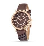 JUST CAVALLI R7251551501 Nur Mirage Damenuhr, roséfarbige auf braunem Lederarmband