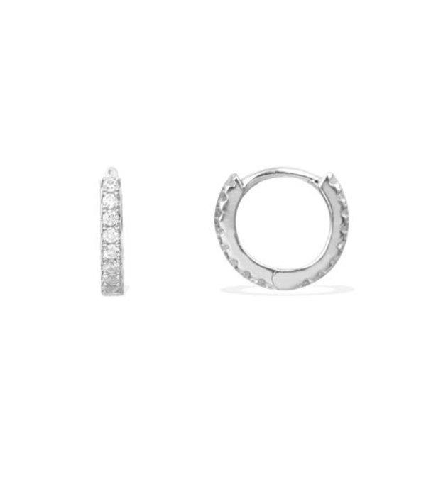 APM MONACO AE9563OX Promesse oorhangers in zilver met kristallen