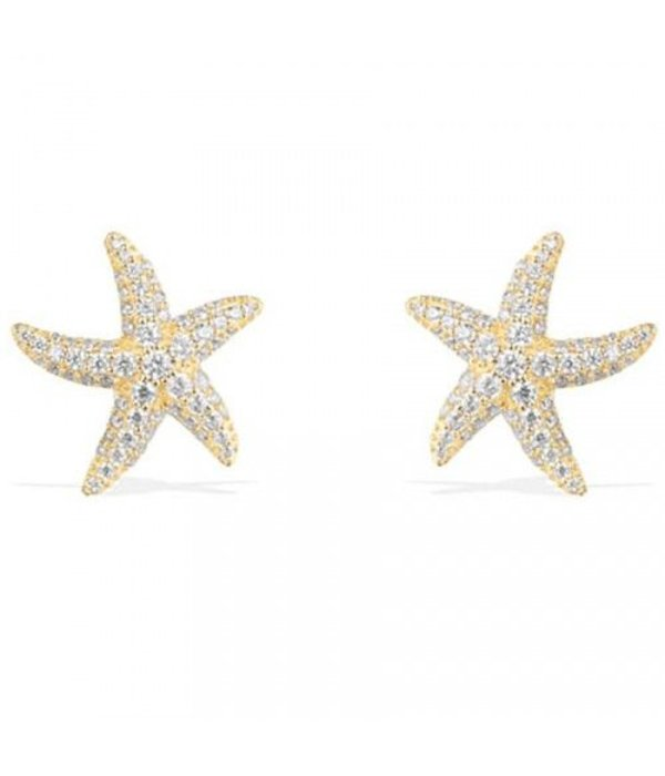 APM MONACO AE9546OXY Ramatuelle Ohrringe in Silber mit goldfarbenen Kristallen