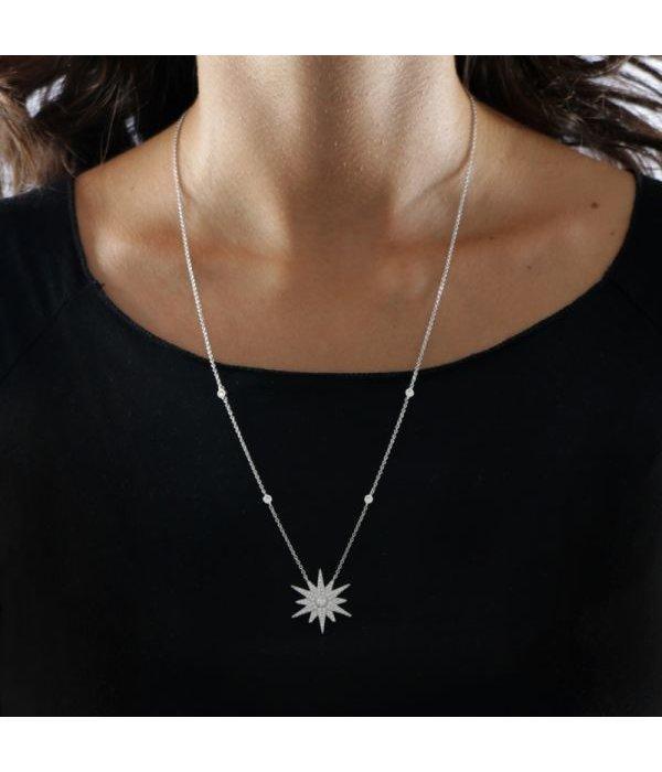 MORELLATO SAHR02 Pura dames halsketting in sterling zilver 925% met kristallen