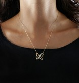 MORELLATO SAHO01 Batitto halsketting met kristallen in goud kleurig edelstaal