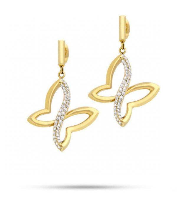 MORELLATO SAHO08 Batitto earrings with crystals, gold-colored stainless steel