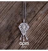 """APM MONACO AP10105OX """"1930"""" necklace in silver with crystals"""