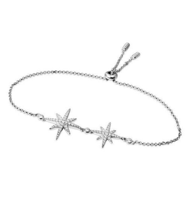 APM MONACO AB3325OX Meteorites armband in zilver met kristallen