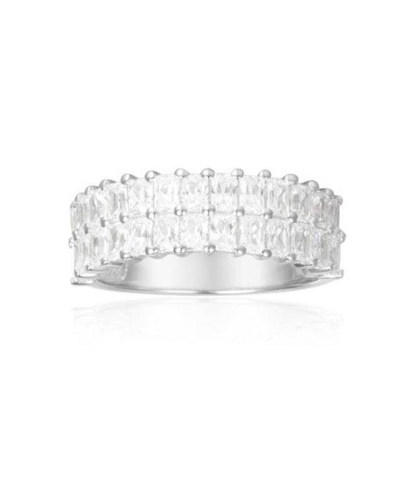 APM MONACO A17636OX ECLAT Ring in Silberkristalle Mess