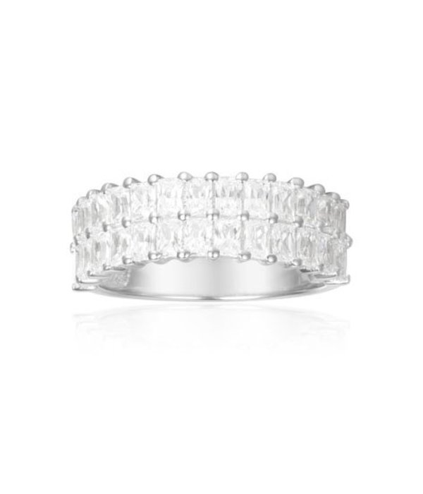 APM MONACO A17636OX ECLAT ring in silver crystals measuring