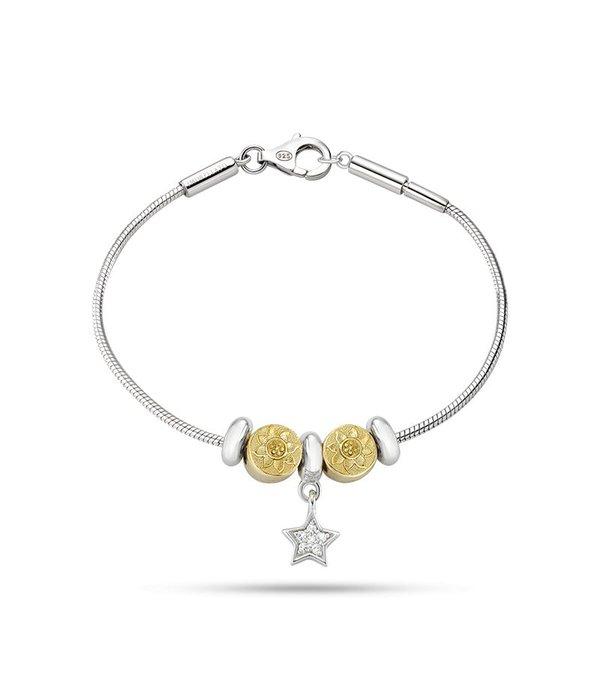 MORELLATO SAFZ131 Solomia bedel armband in zilver met krsitallen