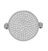 APM MONACO A17296BZX Luna ring in zilver met zwart en witte kristallen