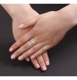 APM MONACO Ring Silber Neo-Classique Croisette COLLECTION ADN A14726OX