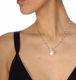APM MONACO AC2918XPL Perles necklace in silver 925% with crystals and pearls