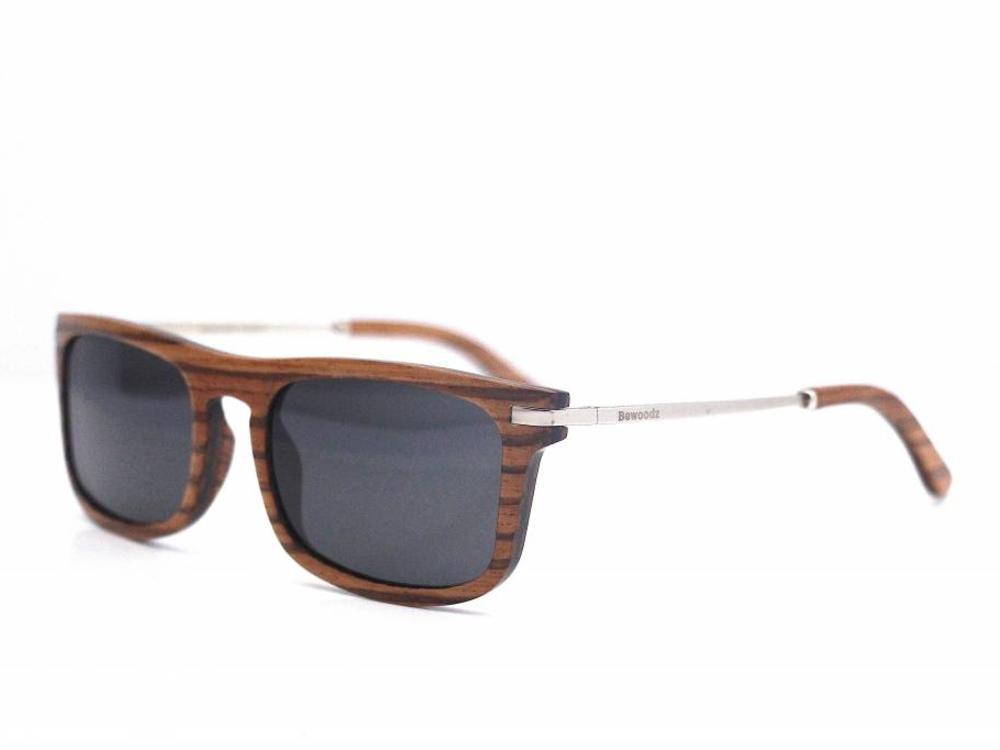 Bewoodz Holz Sonnenbrille 'Zambezi Zebra'