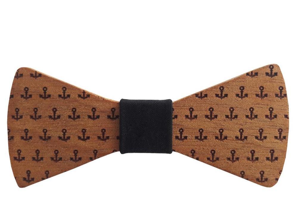 Bewoodz ® Holzfliege - Fliege aus Holz Anker
