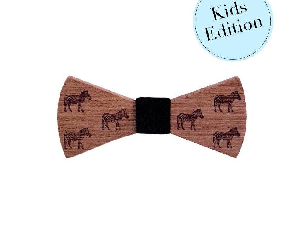 Bewoodz Holzfliege Kinder - Little Zebra
