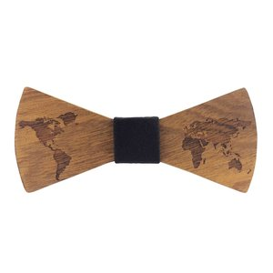 Bewoodz ® Holzfliege | Holz-Fliege - World Traveller