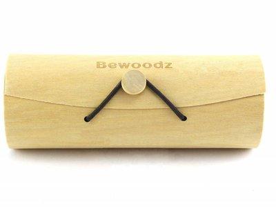 Bewoodz ® Brillenetui aus Birkenholz - Round