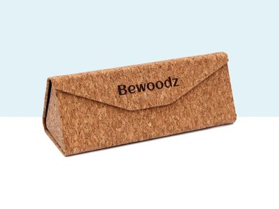 Bewoodz ® Brillenetui aus Kork