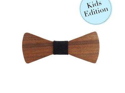 Bewoodz ® Holzfliege Kinder - Natur Pur