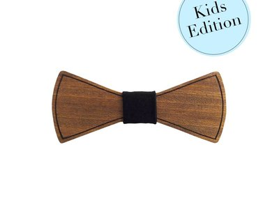 Bewoodz ® Holzfliege Kinder - Minimalismus