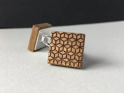 Manschettenknöpfe Holz 'New Geometry'