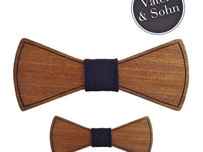 Holzfliegen Set Vater & Sohn - Minimalismus