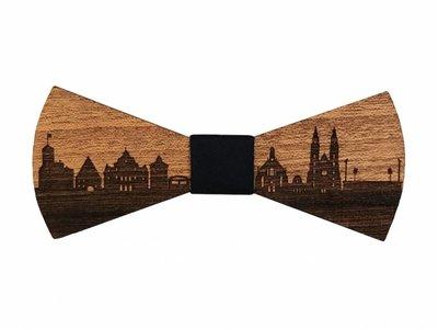 Holzfliege Nürnberg Skyline - Holz-Fliege