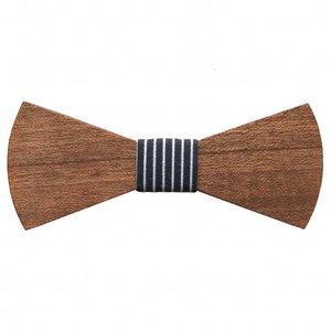 Holzfliege Herren Navy Stripes