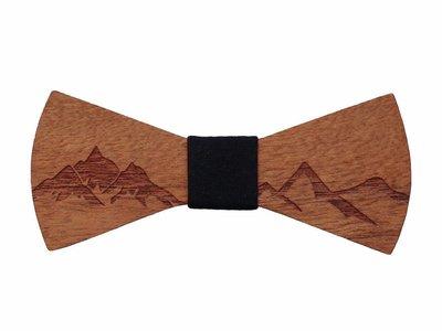 Bewoodz ® Holzfliege - Alpen Gipfel