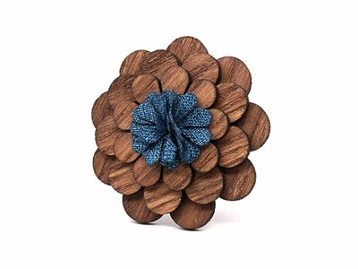 Brosche Holz - Holzbrosche 'Bloom'  |  Holzschmuck