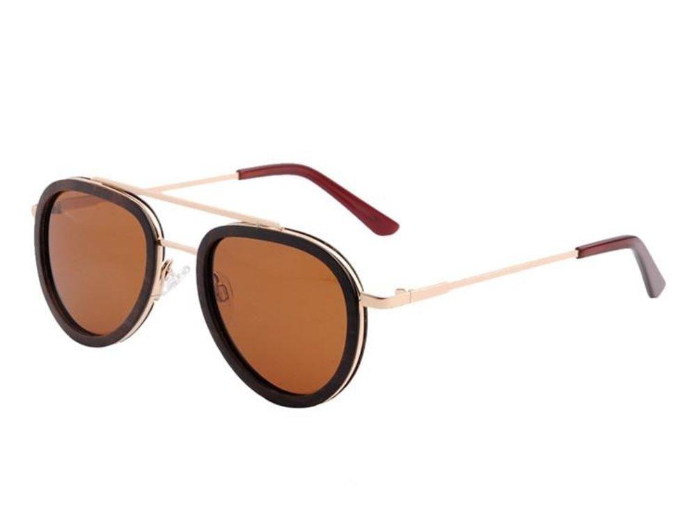 Bewoodz Holz-Sonnenbrille 'Salerno' - Sonnenbrille aus Holz