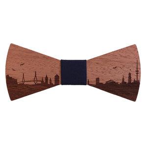 Bewoodz Fliege aus Holz - Hamburg Skyline