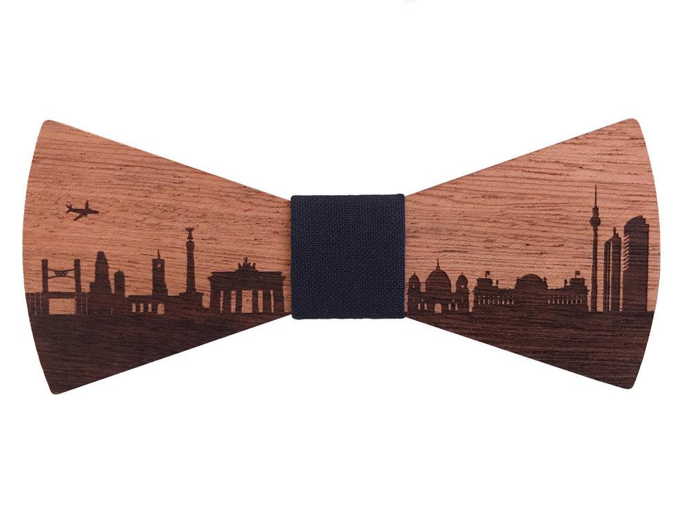 Fliege aus Holz - Berlin Skyline