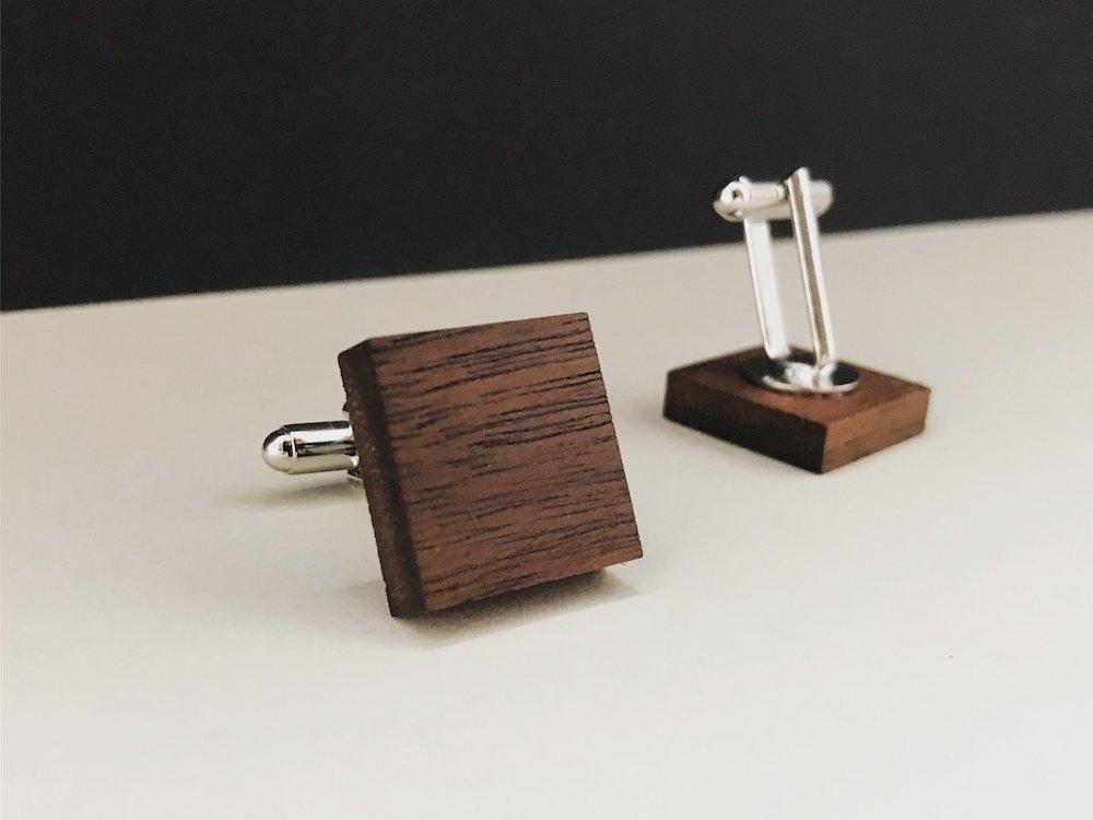 Manschettenknöpfe Holz - Walnuss