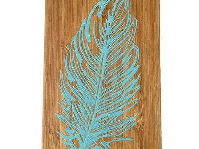 Bewoodz ® iPhone 6 Hülle Bambus Feder 2