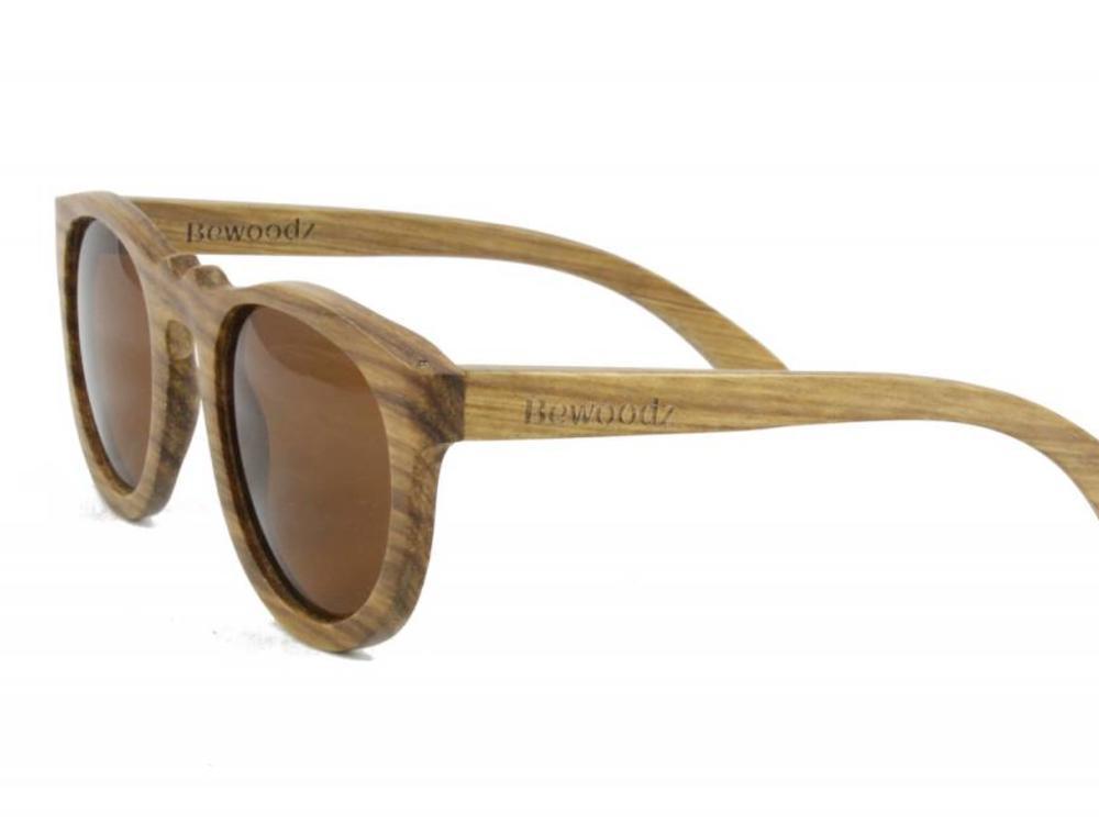 Bewoodz ® Vintage Holz Sonnenbrille 'Saint Tropez'
