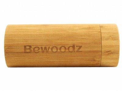 Bewoodz ® Brillenetui aus Holz - Rund