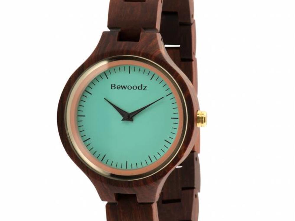 Bewoodz ® Holz Armbanduhr Damen