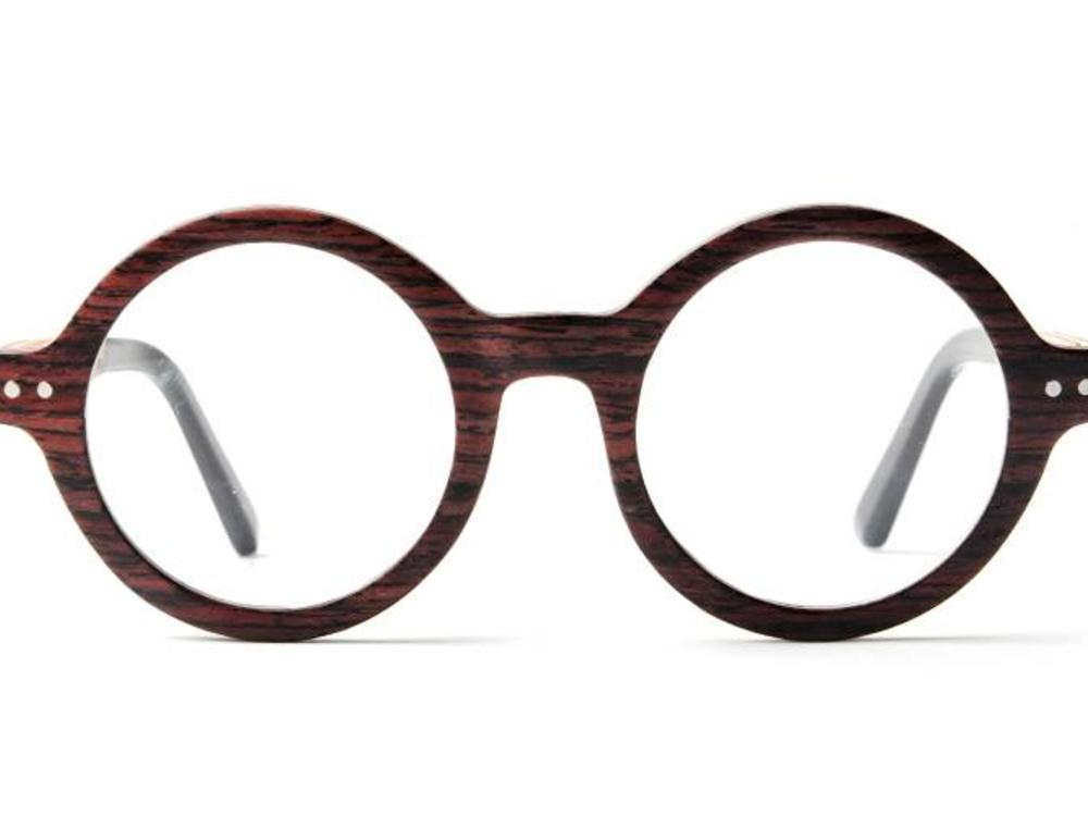 Bewoodz ® Holzbrille Rund Vintage